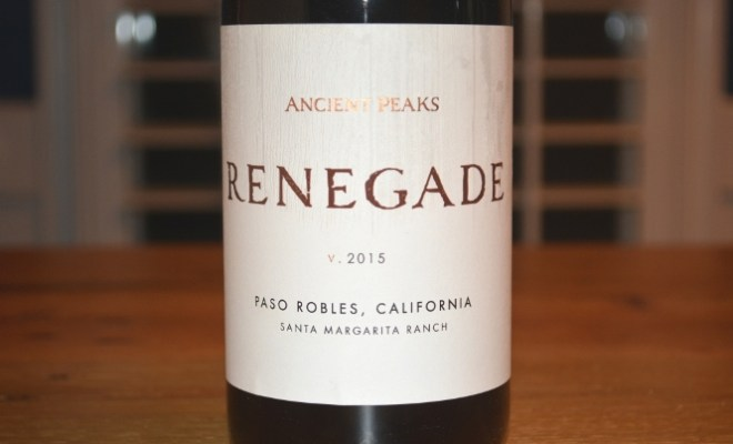 2015 Ancient Peaks Margarita Vineyard Renegade Paso Robles Red Blend