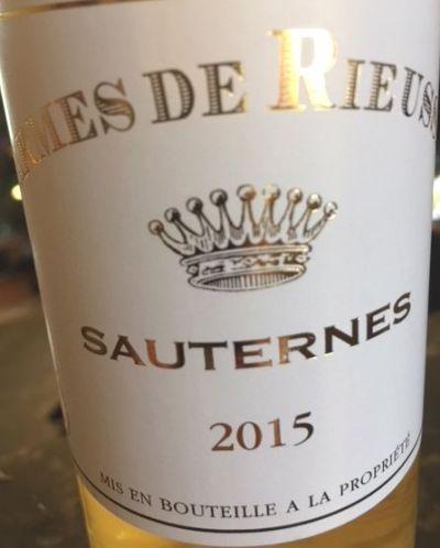 2015 Carmes de Rieussec Sauternes