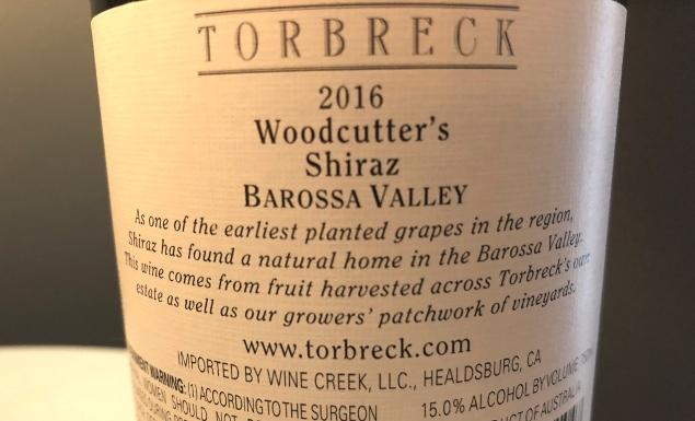 2016 Torbreck Woodcutters Shiraz