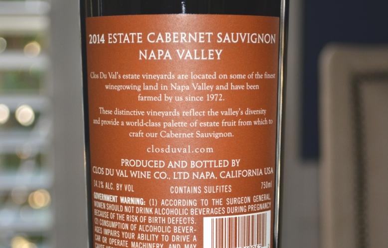 2014 Clos du Val Estate Cabernet Sauvignon Napa Valley