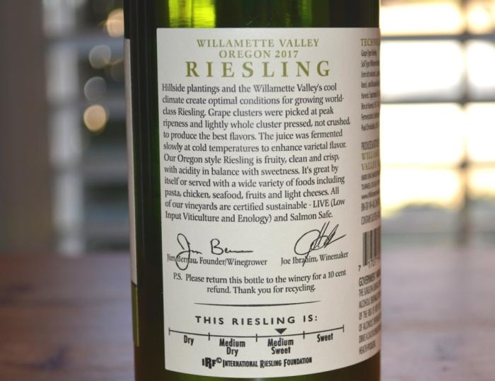 Willamette Valley Vineyards Riesling