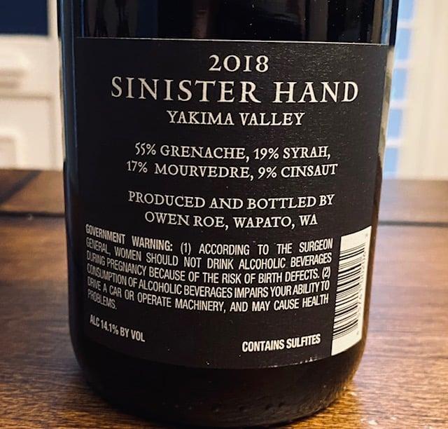 Owen Roe Sinister Hand