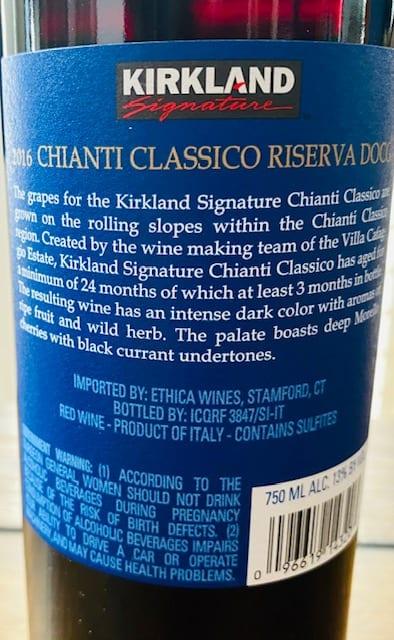 kirkland signature chianti