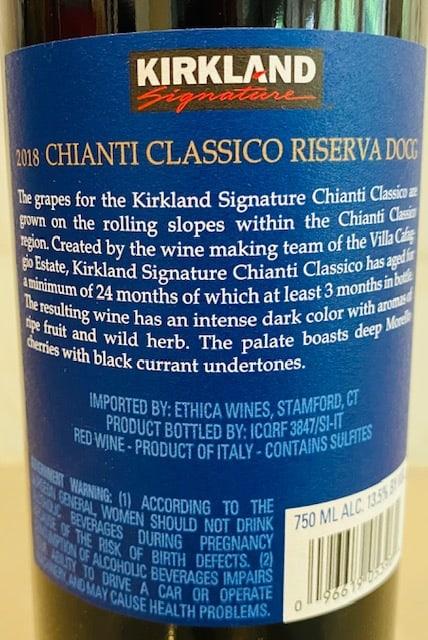 2018 Kirkland Signature Chianti Classico Riserva