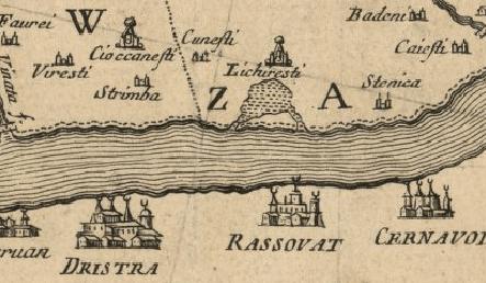 Harta del Chiaro 1718