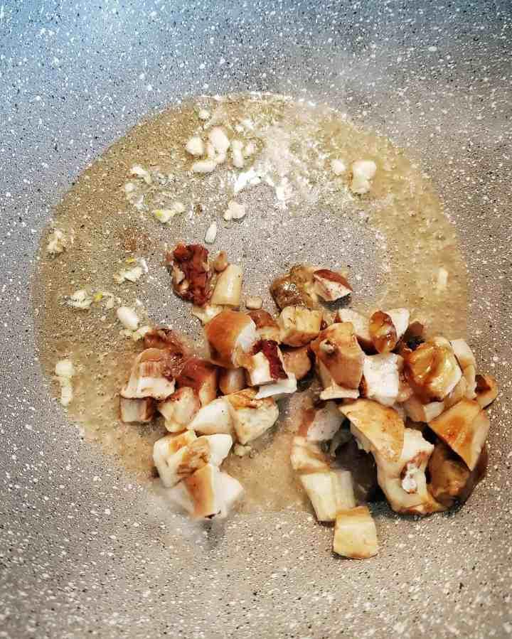 Paste cu pancetta piacentina și hribi