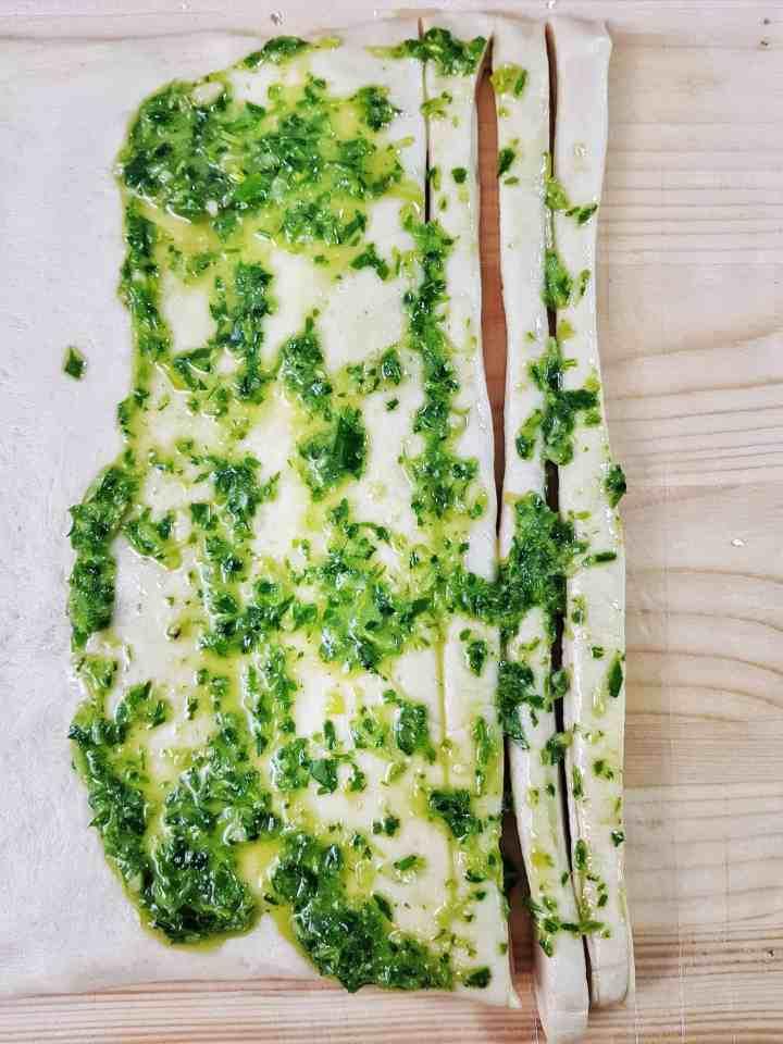 Grisine torineze cu leurdă și cu prosciutto