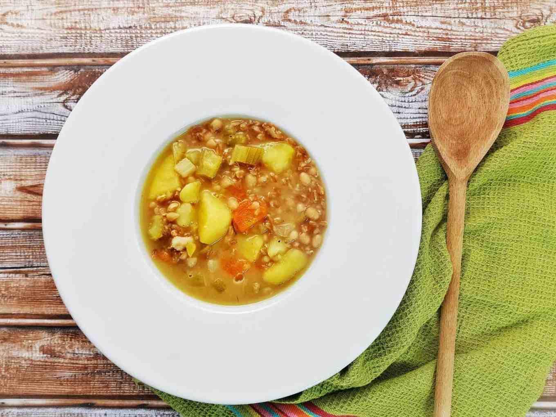 Supă de alac și fasole/Zuppa di farro e fagioli
