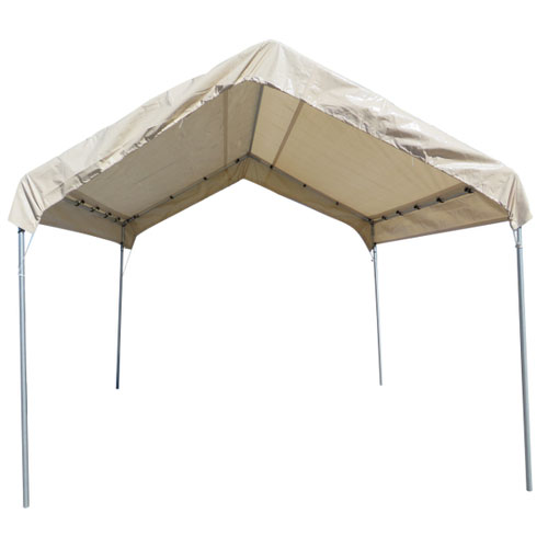 14x20 Replacement Carport Top Tan Costless Tarps