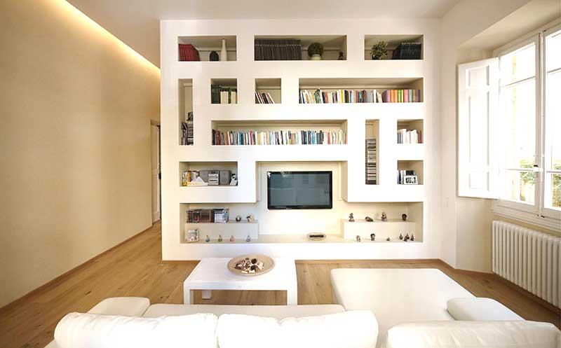 Si possono creare sia librerie moderne che. Libreria In Cartongesso Prezzi Informazioni Sui Costi E Preventivi