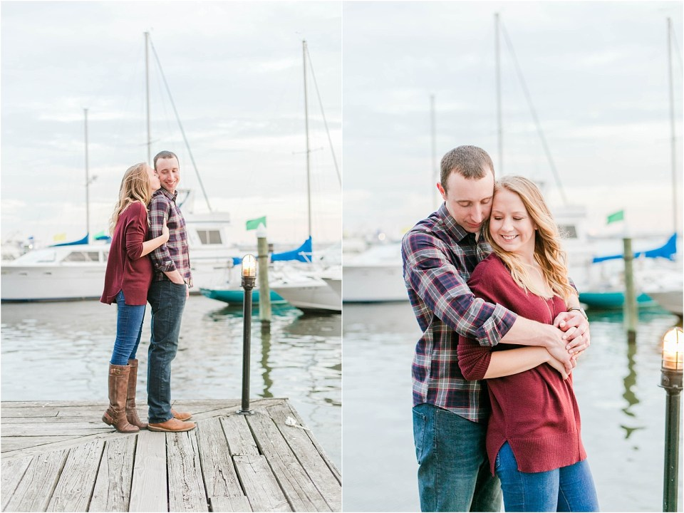 Fells Point Baltimore Engagement Photo