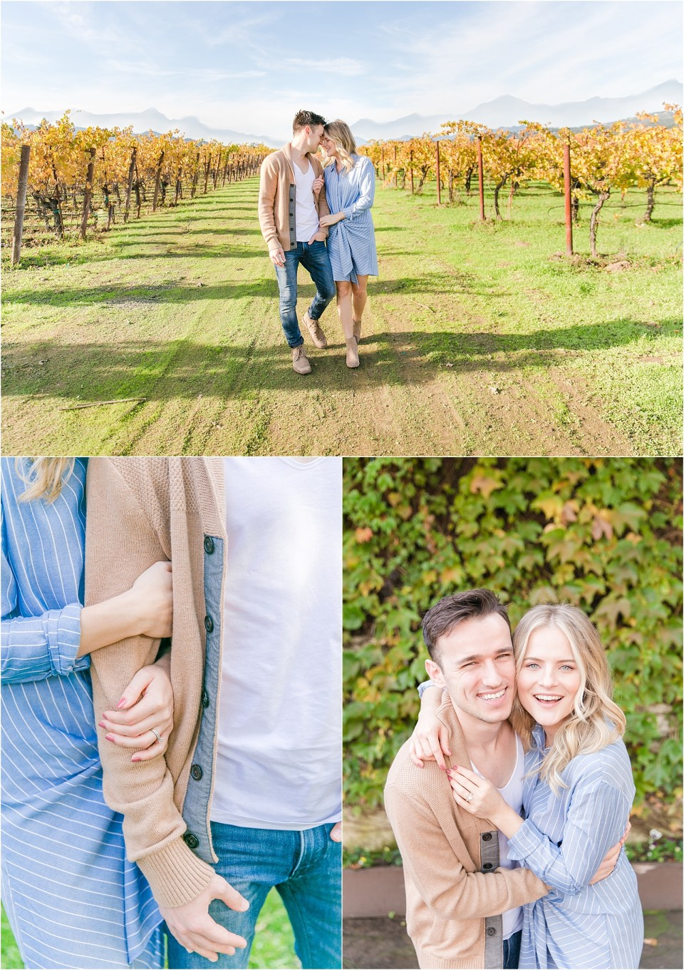 Napa Valley Vineyard Engagement Photo