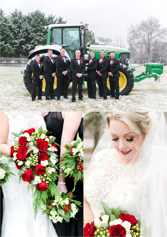 Snow Southern Maryland Wedding