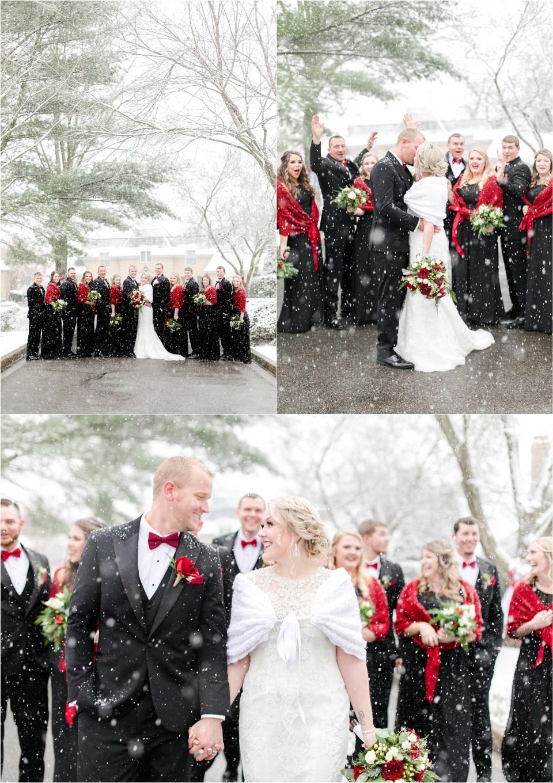Snowy Southern Maryland Wedding
