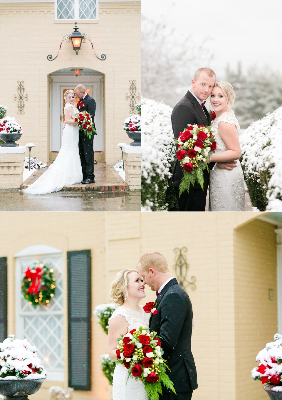 Snowy Southern Maryland Wedding