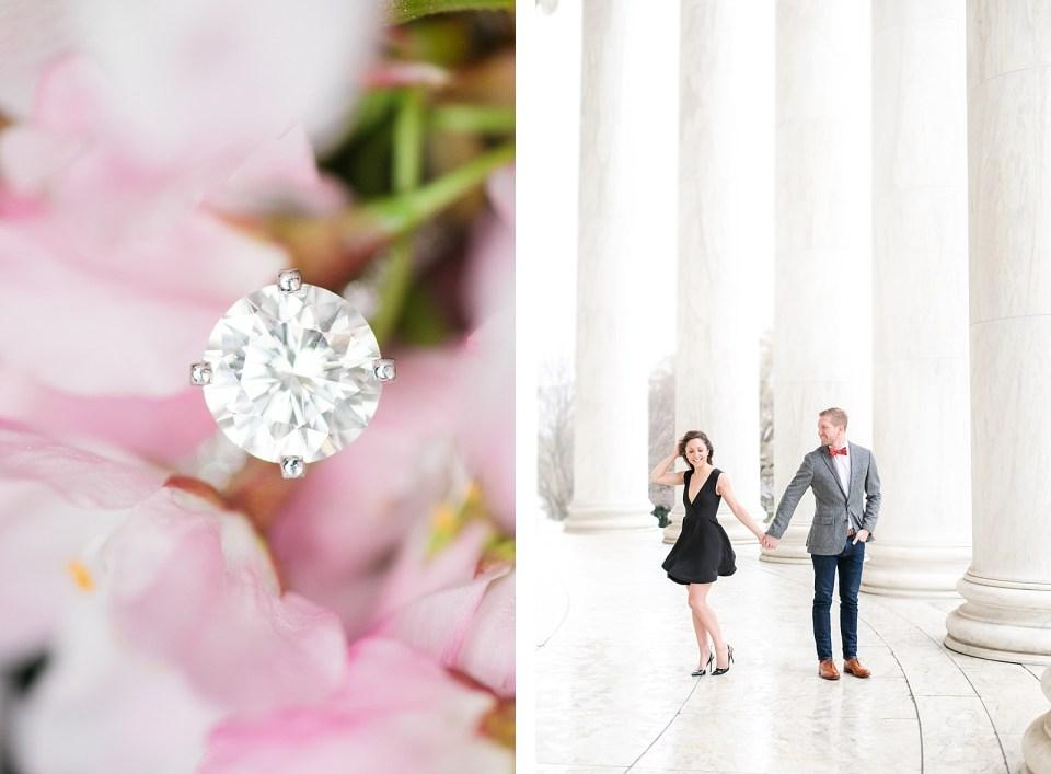 Washington D.C. Cherry Blossom Engagement Costola Photography