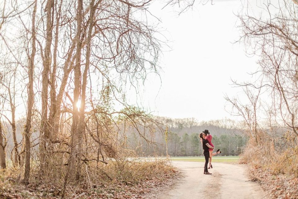 Romantic Engagement in a field in Southern Maryland by Costola Photography