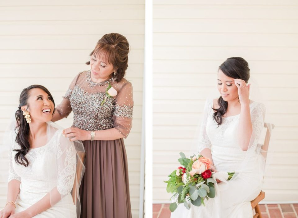 bride getting ready at flora corner farm photographed by costola photography