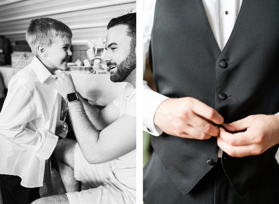 groom getting ready  at flora corner farm photographed by costola photography