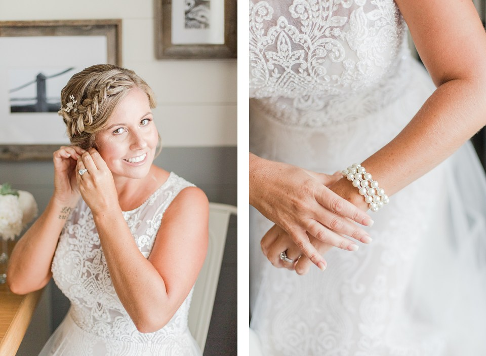 Bride Getting Ready at Wedding at the Beach House Resort by Costola photography