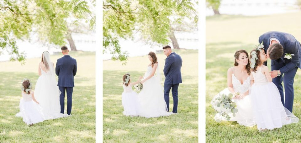 bride and groom at southern maryland waterfront venue by costola photography
