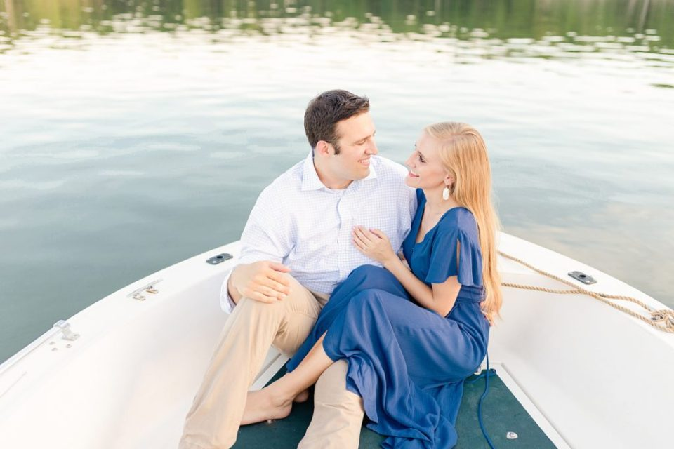 engagement session on a boat