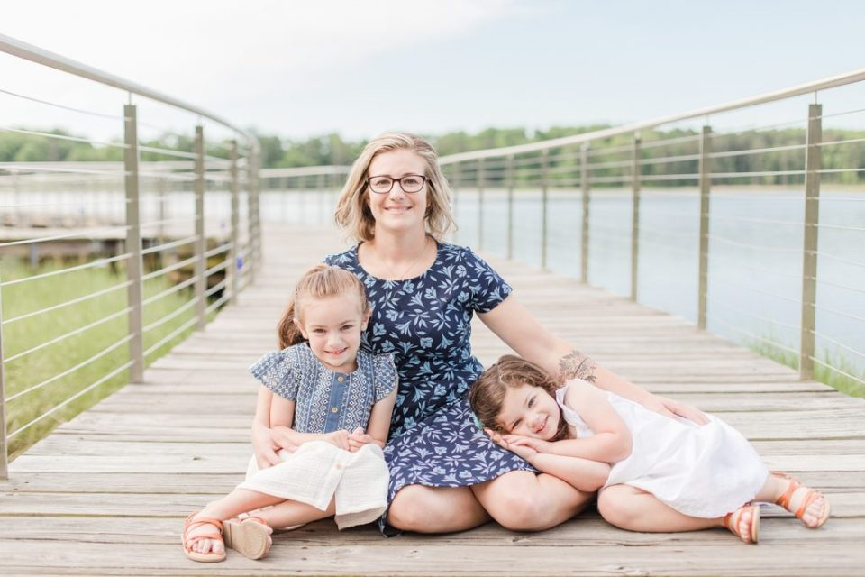 Family session playing at Leonardtown Wharf by Costola Photography