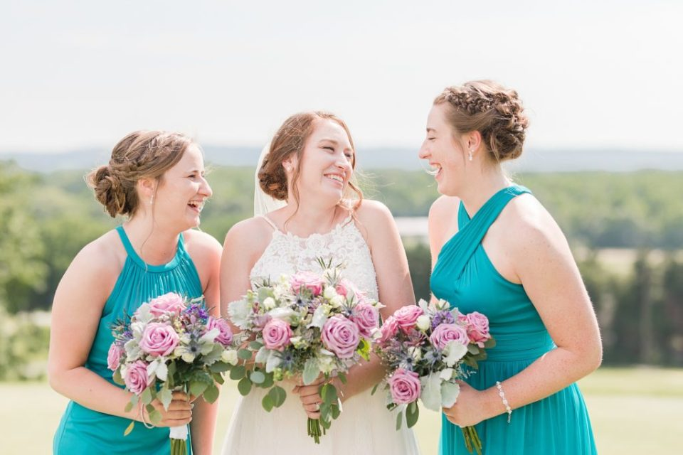 Bridal Party at Wicomico Golf Course Wedding by Costola Photography