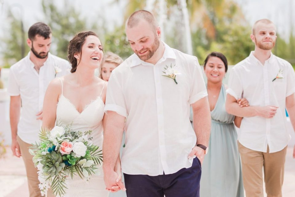 wedding party portraits in Grand Turk by Costola Photography