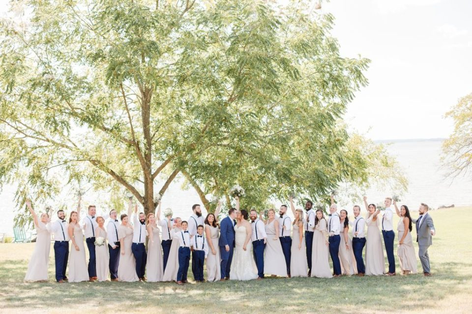 Wedding Party at Weatherly Farm photographed by Costola Photography
