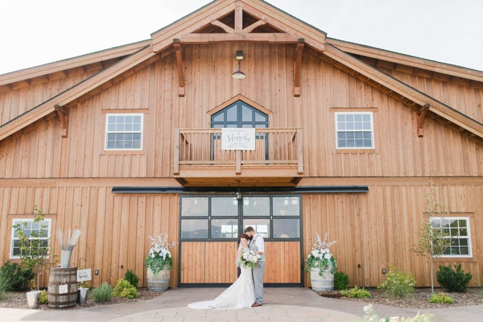 Bride and Groom at The Homeplace at Johnston Farm by Costola Photography