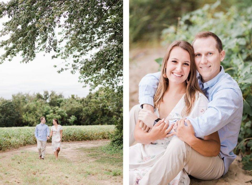 Couples Southern Maryland Engagement Session in fields by Costola Photography