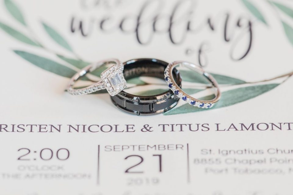 Ring Details Wicomico River Farm Wedding by Costola Photography