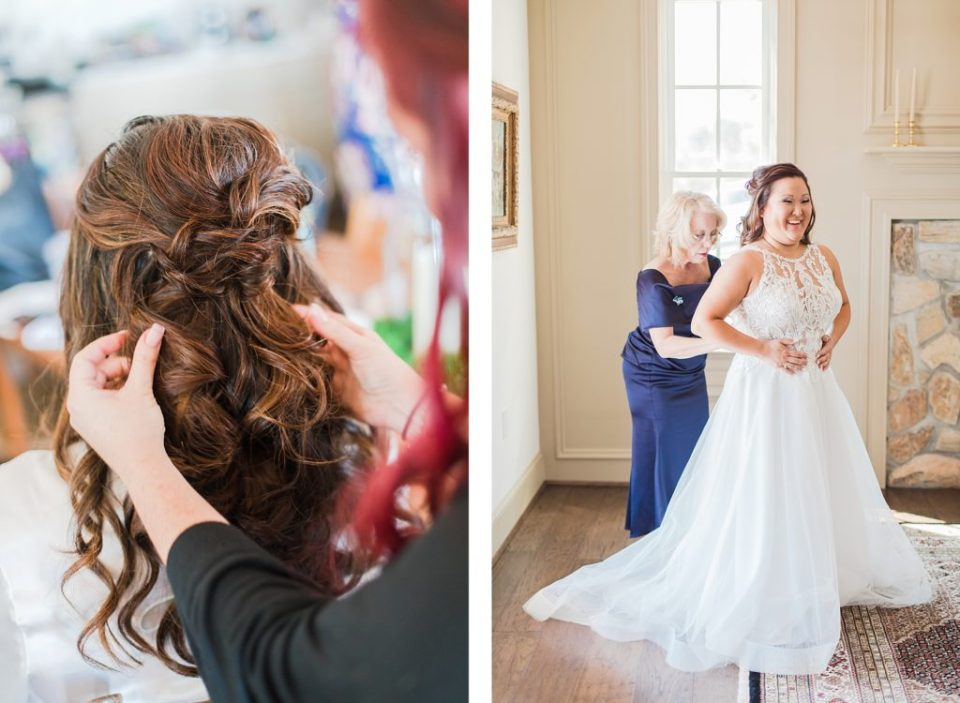 Bride Getting Ready at Wicomico River Farm by Costola Photography