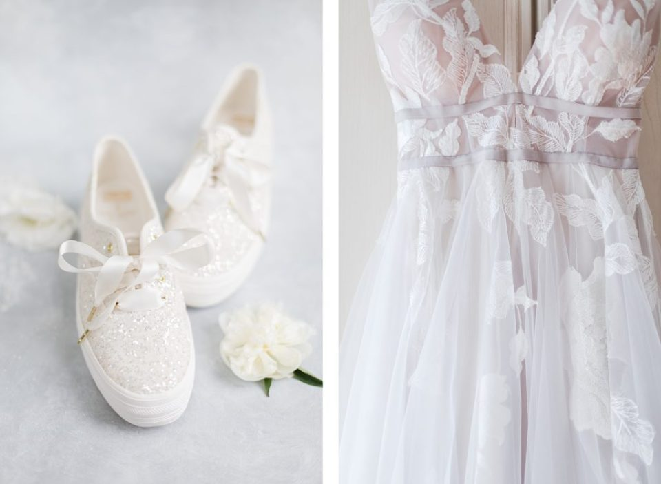 kate spade keds and wedding dress by Costola Photography