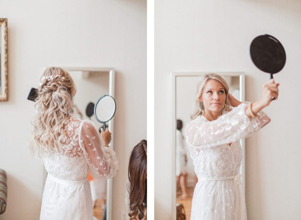 bride getting ready at southern wedding by Costola Photography
