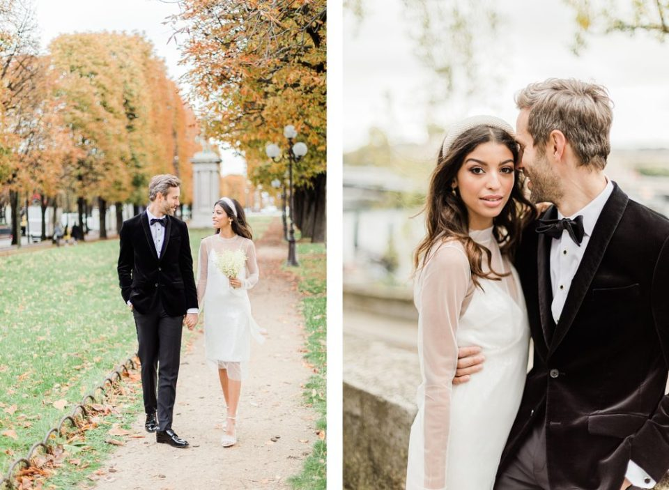 Elopement in Paris, France by Seine River by Costola Photography