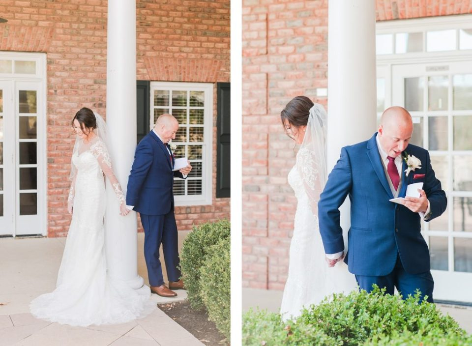 First Look at Swan Point Country Club Waterfront Wedding