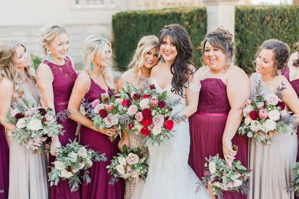 Bridal Party at The Great Marsh Estate photographed by Costola Photography
