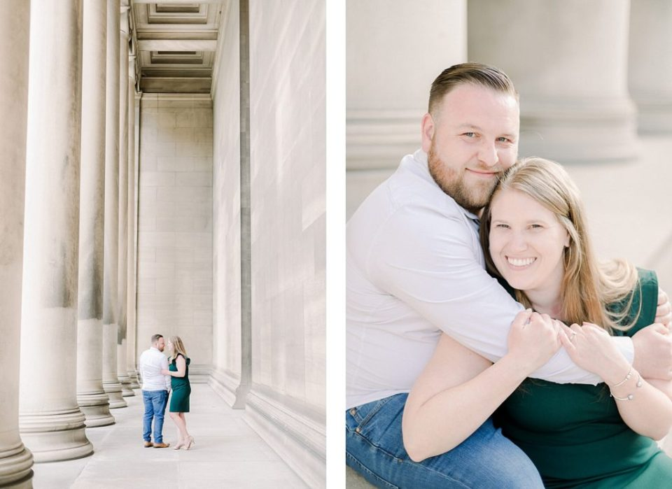 Engagement Session at Mellon Institute in Pittsburgh Pennsylvania by Costola Photography