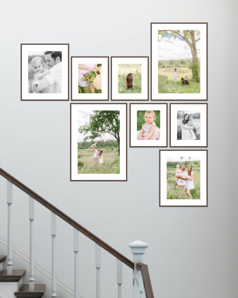 Gallery Wall By Family Photographer in Southern Maryland by Costola Photography