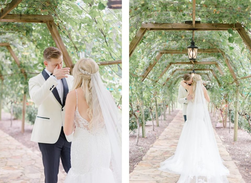 First Look under Vines by Costola Photography