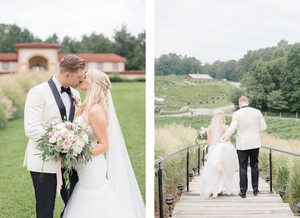 Bride and Groom at the running hare wedding by costola photography