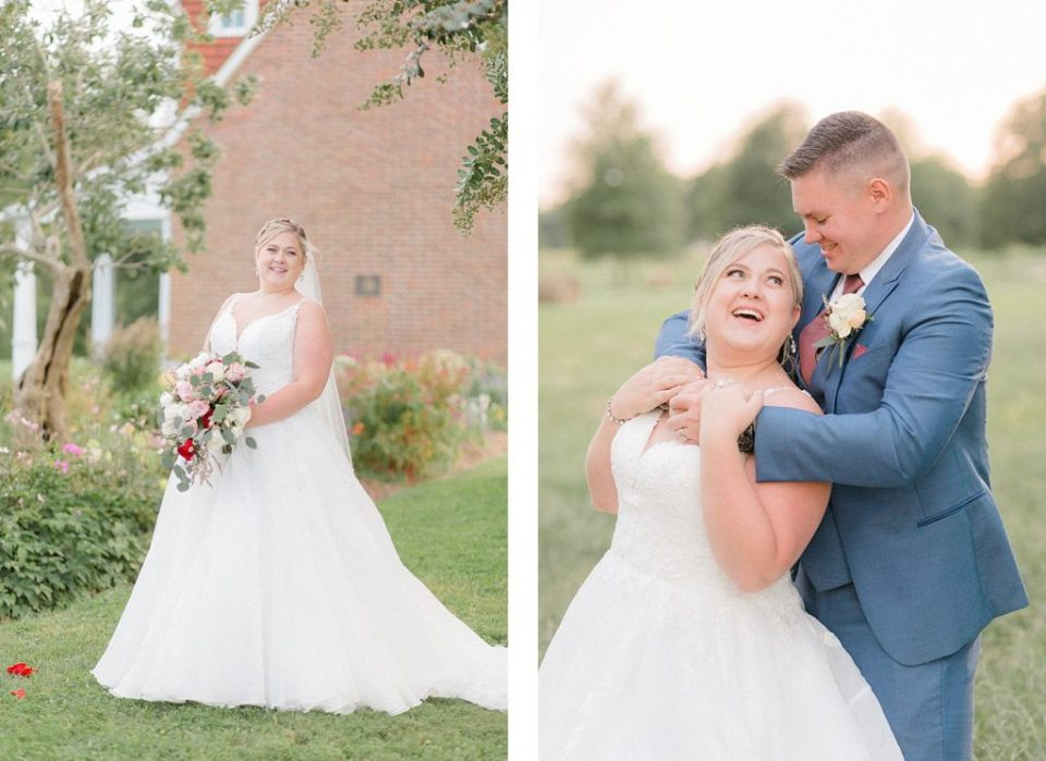 Bride and Groom Portraits at Early Autumn Sotterley Wedding by Costola Photography