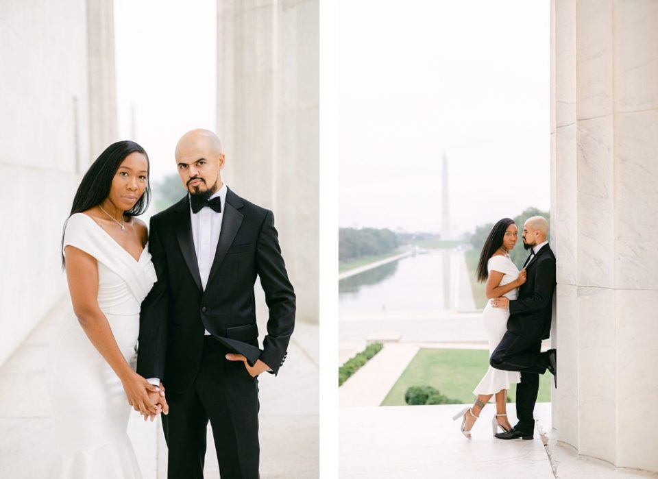 Washington DC Anniversary Session at the Lincoln Memorial by Costola Photography