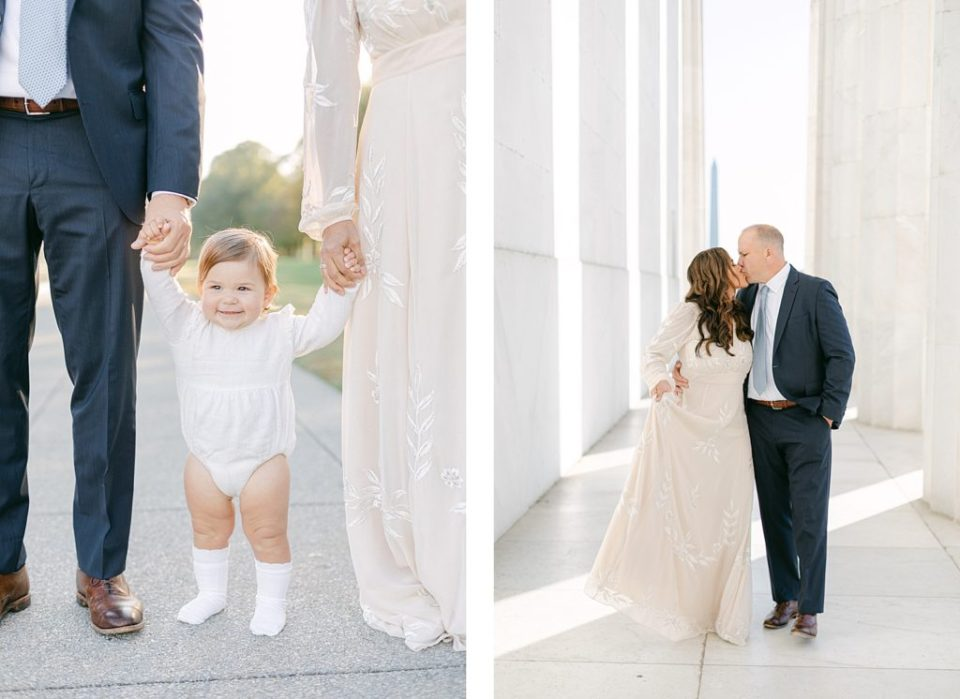 Washington DC Family session at the Lincoln Memorial by Costola Photography