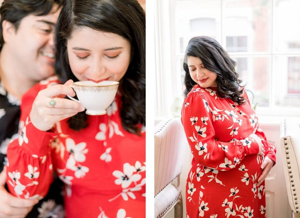 Maternity Session at Gateau Tea Room in Culpepper Virginia by Costola Photography