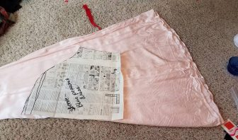 adjusting the sleeve pattern on the skirt