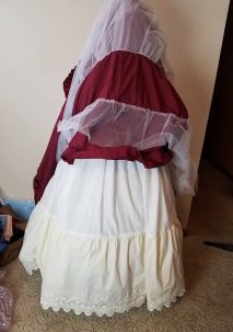 dress over the petticoat
