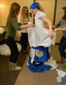 bringing up the skirt